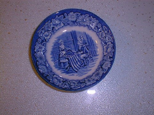 (Staffordshire Liberty Blue Fruit Bowl 5