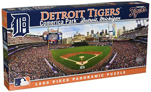 (MasterPieces MLB Detroit Tigers Stadium Panoramic Jigsaw Puzzle, 1000-Piece)