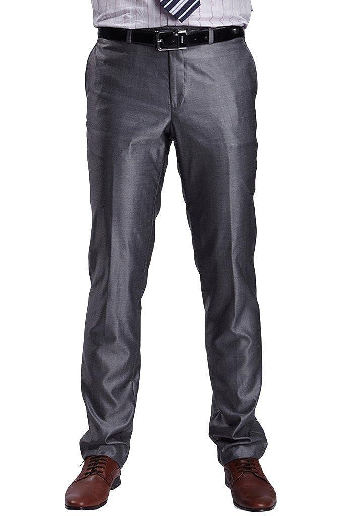 Hanayome Men's Hidden Expandable Waist Plain Front Pants P25 P25A01