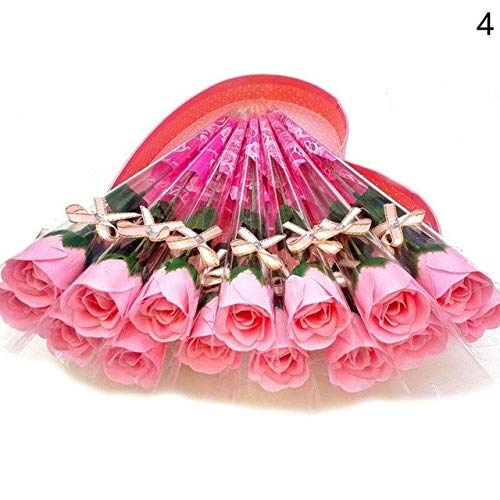 (STAR-FIVE-STORE - 1pcs Artificial Single Rose Soap Flower With A Diamond Gift For Valentine's Day Birthday Wedding Decoration FES7581)