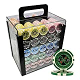 1000 count poker chips - MRC 1000pcs Ultimate Laser Poker Chips Set with Acrylic Case Custom Build