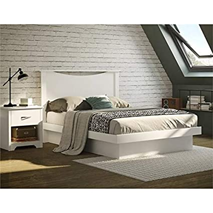 Amazon Com South Shore Basic 2 Piece Full Platform Bedroom Set In