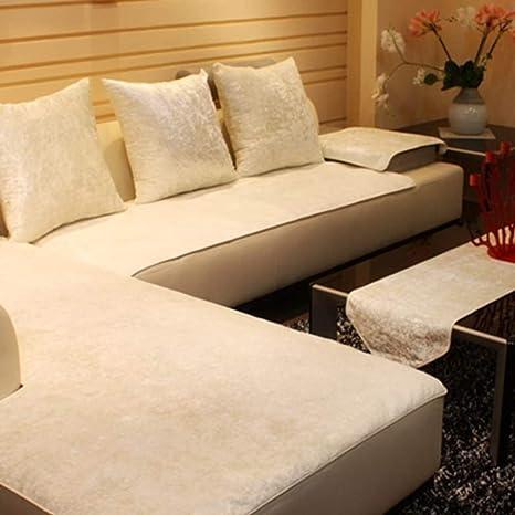 WENROUMIAO-SFJ Felpa Toalla de sofá, Color sólido Gruesas ...