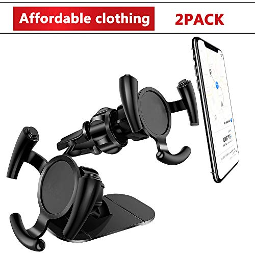 Guiling Car Phone Mount [2PCS Pack],Air Vent and Dashboard Sticker Holder for Pop it up Grip, Automotive Vehicle Nevitation Holder, One Hand Easy Operation,Easy Clip,for Pop Stand User