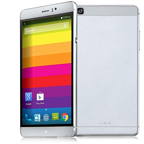 Padcod Unlocked 3G Smartphone,6 inch IPS Screen Android 4.4.2 cellPhone,MTK6572 Dual Core CPU,512MB RAM 4GB ROM,Dual SIM,Dual Camera,WIFI GPS G-Sensor SIM-Free 2G/3G 4800mAh Battery (White)