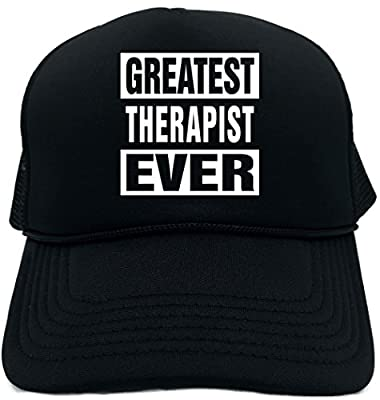 Signature Depot Funny Trucker Hat (Greatest Therapist Ever) Unisex Adult Foam