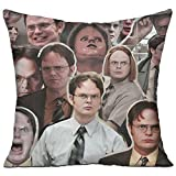 """FASHIONGI Decorative Dwight Schrute The Office Pillow Cushions Cover Throw Pillow Cover & Insert for Sofa Bedroom Pillowslip Gift Household Pillowcase 18"""" X 18"""""""