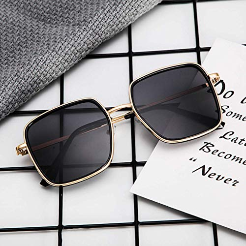 Uqiangy Fashion men's and women's reflective film big frame new ()