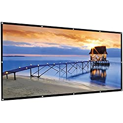 Famirosa Indoor Outdoor Portable HD Home Theater Projector Movie Screen,(100 inch 120 inch 16:9 Portable Folding Projection Screen High Brightness, Suitable for HDTV/Sports/Movies(100inch)