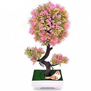 1pc christmas tree diy Sakura Emulate Bonsai Artificial Flowers Fake Pot Plants 43
