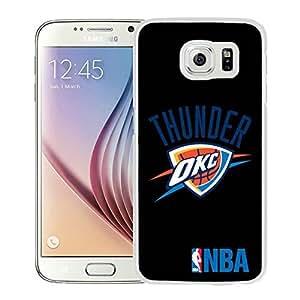 New Custom Design Cover Case For Samsung Galaxy S6 Oklahoma City Thunder 3 White Phone Case wangjiang maoyi