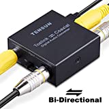 Tensun Optical to Coaxial Converter, Optical to Coax and Digital Coax Coaxial to SPDIF Toslink Optical Bi-Directional Digital to Audio Converter Adapter Repeater