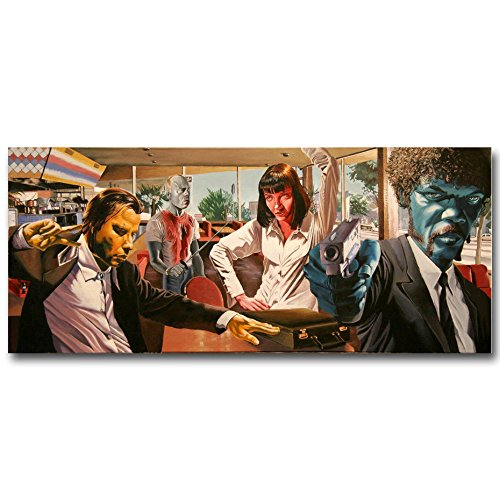 - 13X32Inch Pulp Fiction Classic Movie Art Silk Wall Poster 13X32 20X47 Inch Uma Thurman