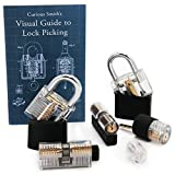 #2: Practice Lock Set, 6 Transparent Locks for Lock Picking Practice, Visual Guide Included