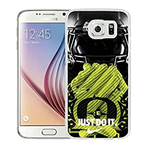 NCAA Pacific-12 Conference Pac-12 Football Oregon Ducks 11 White Case with Newest and Unique Look for Popular Samsung Galaxy S6