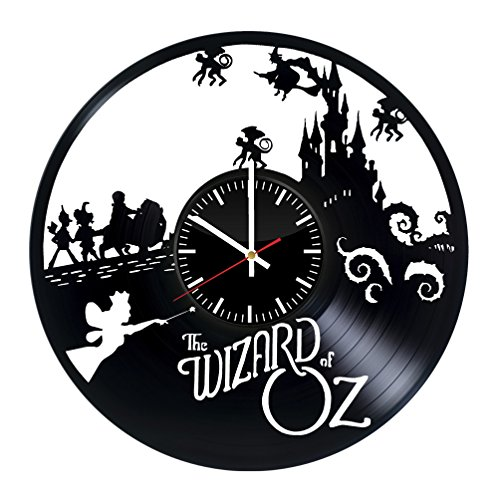 The Wizard Of Oz Vinyl Wall Clock - Magic Film Original Present For Fans - Wall Art Room Decor Handmade Decoration Party Supplies Theme Birthday Gift - Vintage And Modern Style