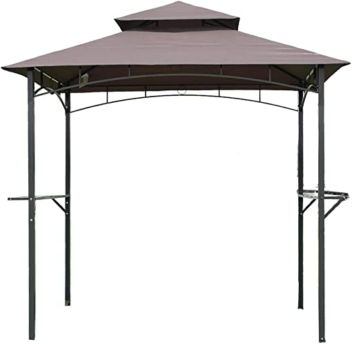 FDW Grill Gazebo 8 x 5 Barbecue Canopy BBQ Gazebo Canopy Tent w Air Vent Double Tiered Outdoor