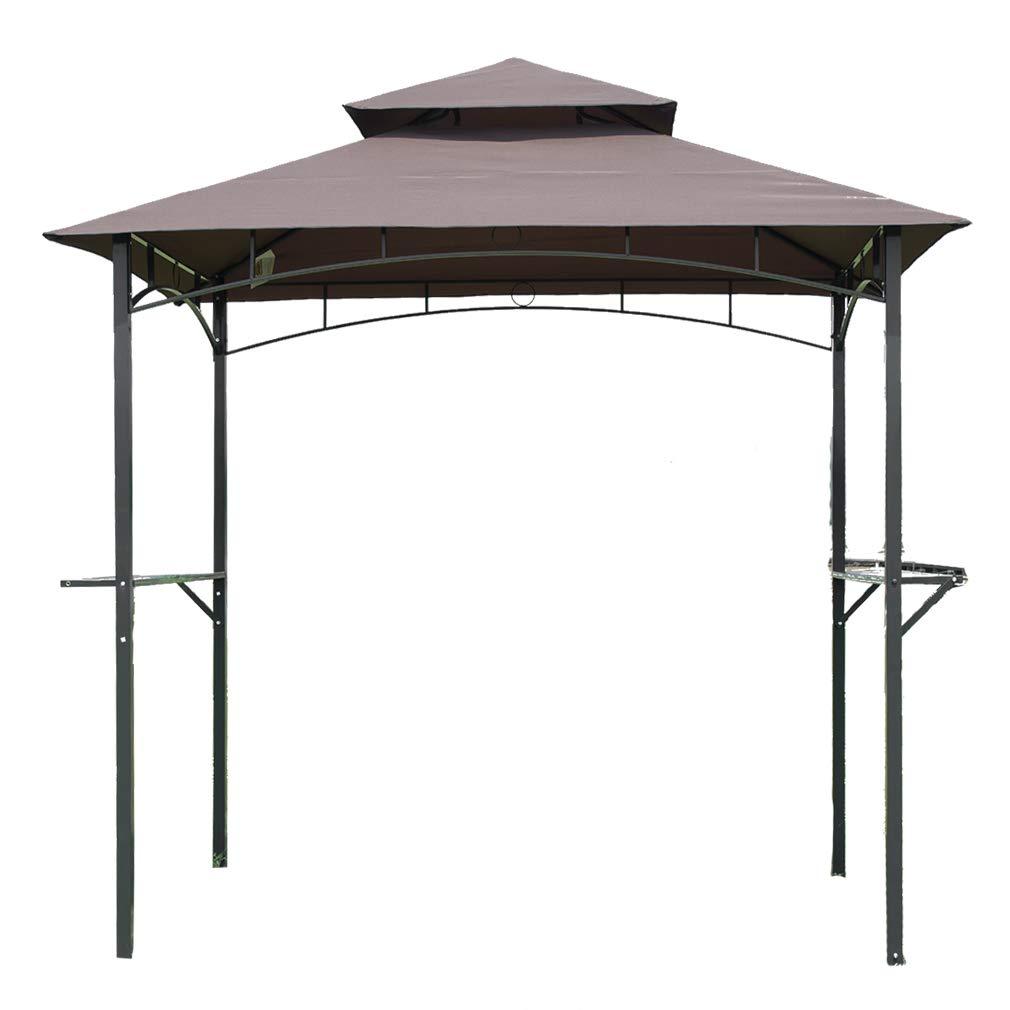 FDW 8'x 5'BBQ Grill Gazebo Barbecue Canopy Tent w/Air Vent, Brown by FDW