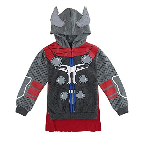 Hoodies Avengers Marvel Superhero Iron Man Thor Hulk Captain America Spiderman Sweatshirt for Boys (Thor, ()