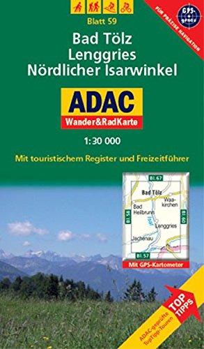 Bad Tölz, Lenggries, Nördlicher Isarwinkel: 1:30000. Alpen /Voralpen. GPS-genau. (ADAC Rad- und WanderKarte)