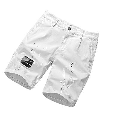 VECDY - Pantalón Corto de impresión de Puntos de Camuflaje de ...