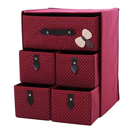 Tuangexportabl - cubeta organizador plegable de 3 capas, 5 cajones, gran capacidad, para juguetes, ropa, habitación de los...