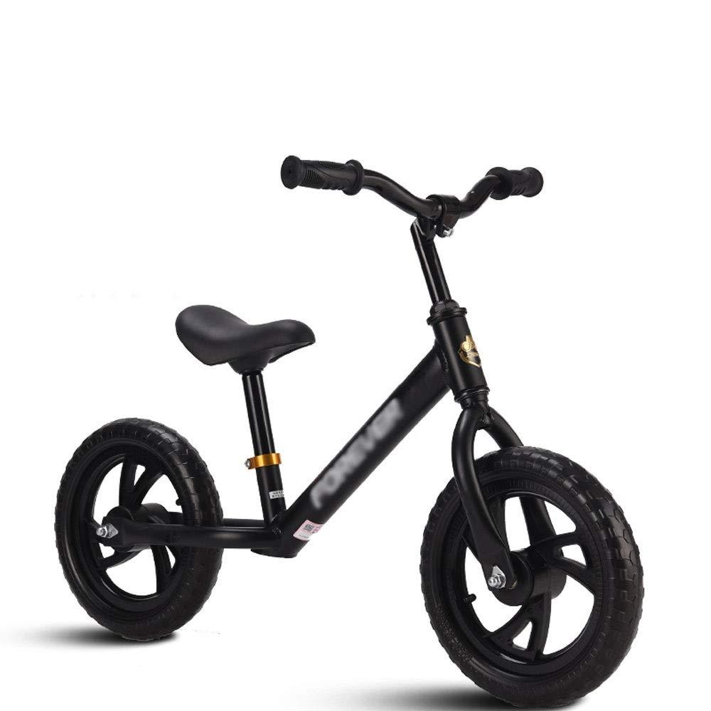 entrega rápida negro CXYGHXG Bicicleta de Equilibrio for niños, niños, niños, Bastidor de Acero al Cochebono sin Pedal andando, Andador, 3 Colors (Color   negro)  artículos novedosos