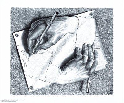 M.C. Escher (Drawing Hands) Art Poster Print - 26x22 Art Poster Print by M. C. Escher, 26x22 Art Poster Print by M. C. Escher, 26x22 (Mc Escher Poster)