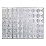 Fasade Easy Installation Miniquattro Brushed Aluminum Backsplash Panel for Kitchen and Bathrooms (18 sq ft Kit)