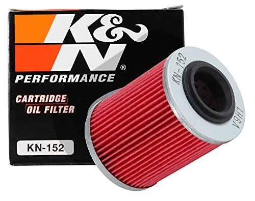 KN-152 K&N Performance Oil Filter; POWERSPORTS CARTRIDGE (Powersports Oil Filters):