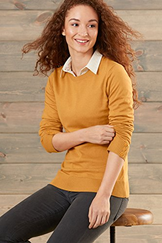 Fair Indigo Fair Trade Cotton/Alpaca Crew Neck Sweater