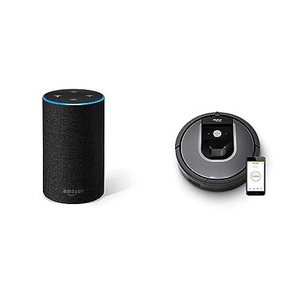 Echo gris antracita + iRobot Roomba 960 - Robot Aspirador Óptimo ...