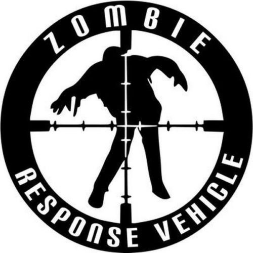 Zombie Response Vehicle Walking Dead Car Truck Windows Decor Decal Sticker - Die cut vinyl decal for windows, cars, trucks, tool boxes, laptops, MacBook - virtually any hard, smooth surface -