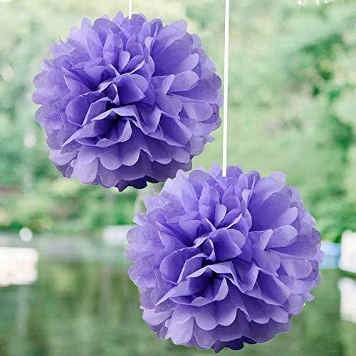 Mikash 12 pcs 6 POM POM Balls Wedding Party Centerpieces Decorations Wholesale | Model WDDNGDCRTN - 6702 |