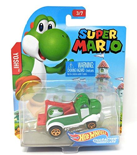 Hot Wheels Super Mario Character Cars Yoshi Vehicle 3/7