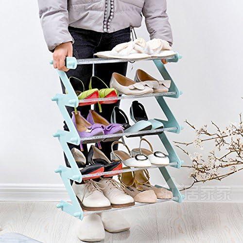 WENZHE シューズラック 靴箱スリッパ アセンブリ 多機能、 2色、 2サイズ シューズホルダー ( 色 : 青 , サイズ さいず : 45.5*19*30.2cm )