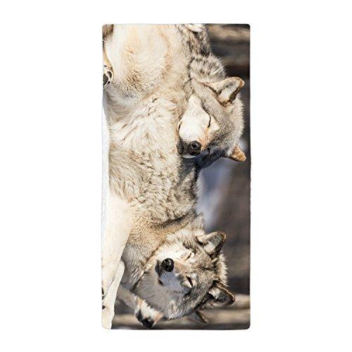 JKYUKO Cute Sleeping Wolf Bath Towel Microfiber Beach Towl 90*150cm