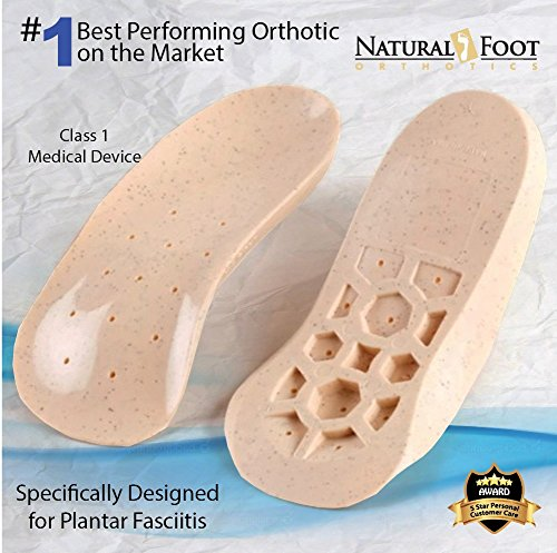 Natural Foot Orthotics Original Stabilizer Plantar Fasciitis Inserts for Medium to High Arches, Arch Support Insoles for Heel Pain, Balance, Posture, Made In USA, 6-6.5 Mens / 7-7.5 Womens Plastic Stabilizer