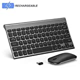 Wireless Keyboard and Mouse Combo, Seenda Low Profile Small Rechargeable Wireless Keyboard