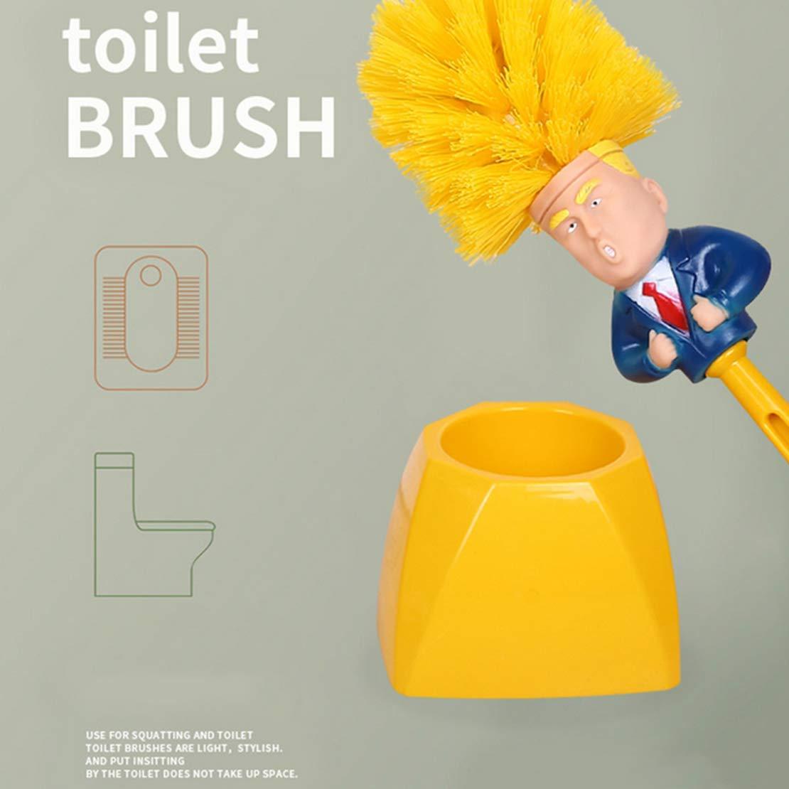 CFJJOAT Donald Trump - Escobilla de baño con Base y escobilla de ...