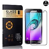 samsung galaxy j1 2016 Galaxy J1 2016 Tempered Glass Screen Protector, UNEXTATI Premium HD Clear Anti Scratch Tempered Glass Film for Samsung Galaxy J1 2016 (2 Pack)