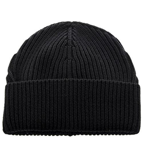 Maison Margiela Unisex Knit Beanie Size Medium Black by Maison Margiela