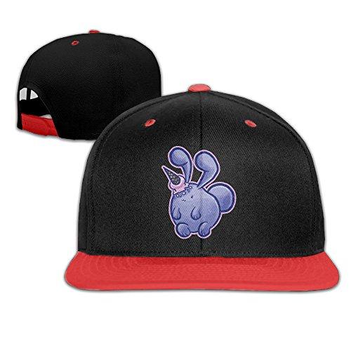 kids-rabbit-pet-falt-hat-hip-hop-baseball-cap-red