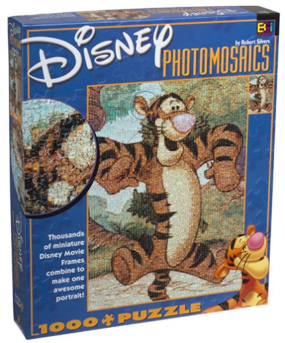 Disney Photomosaic Tigger 1000 Piece Jigsaw Puzzle