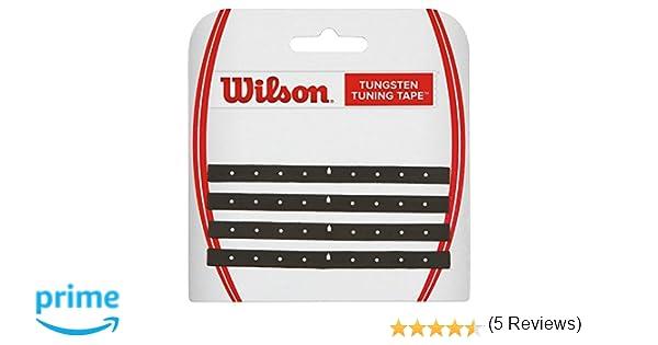 Wilson Tungsten Tuning Tape Cinta de plomo, equilibra el peso de la cabeza de la raqueta, negro