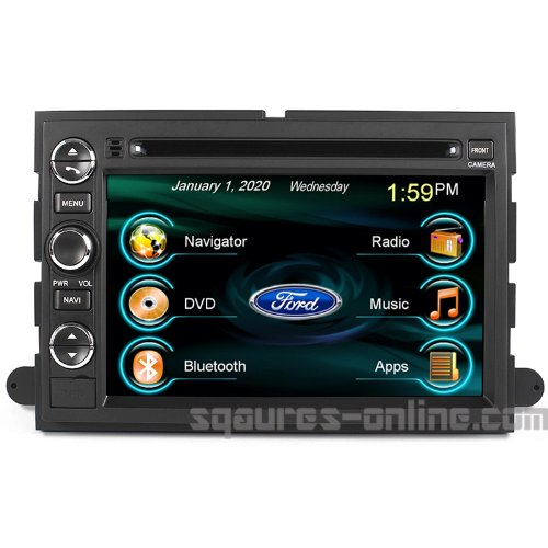 2004-2008 Ford F-150 2005-2012 Ford F-250/350/450/550 In-dash DVD GPS Navigation Stereo Bluetooth Hands-free Steering Wheel Controls Touch Screen iPod iPhone-Ready Deck AV Receiver CD Player Stereo Video Audio NAVI Radio Square S SS-9080FX w/ Digital TV Rear View Camera Option OEM Replacement