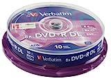 Verbatim 43666 8.5GB 8x Double Layer DVD+R Matt Silver - 10 Pack Spindl
