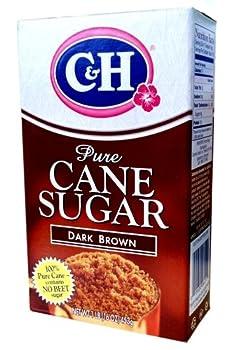 C&H, Pure Cane, Dark Brown Sugar, 16oz Box (Pack of 4)