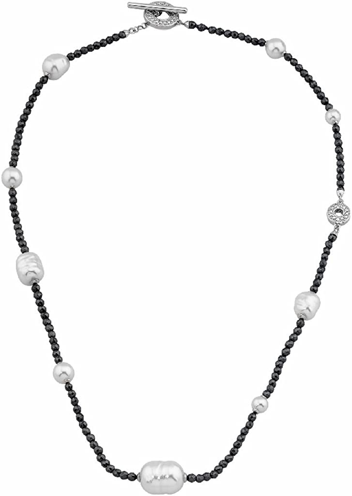 Majorica 15667.01.2.000.010.1 Collar Mujer Plata Perlas Tamaño 40 cm