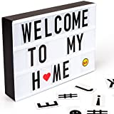 led light box - Light Box with 100 Letters, LED Cinematic Light Box A4 Size with USB Cable
